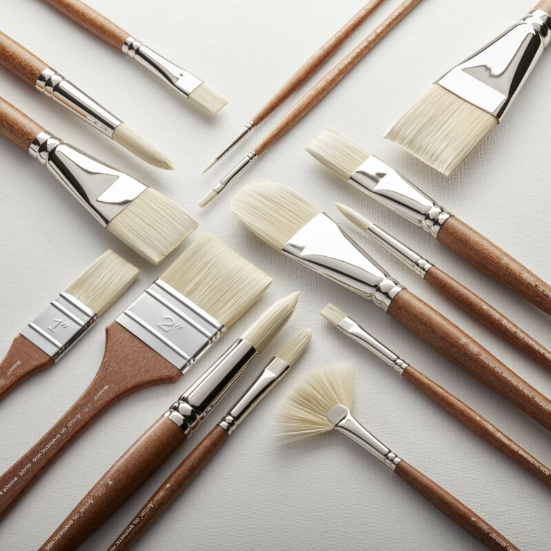 W&N ARTISTS OIL SYNTHETIC BRUSH [SQUARE LIFESTYLE] 11 (For Office Print)